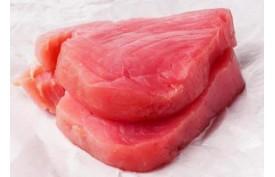 Tuniak steak, 10% glaz., cca 2,5kg/bal  (100-200g/ks)