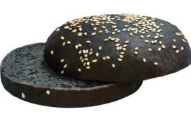 Hamburgerová žemľa Čierna 125mm, KUKTA