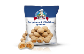 Zemiakové knedlíčky plnené marhuľovou plnkou KUKTA 2,5