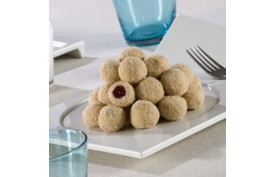 Tvarohové miniknedlíčky s malinovou náplňou
