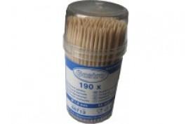 Drevené špáradlá v plastovom kelímku s uzáverom (190ks)