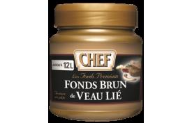 CHEF bind brown veal stock premium (6x600g), Pastovitý tmavý teľací fond